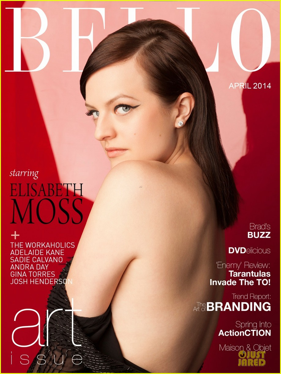 elisabeth moss shows off black bra in sexy top in bello 013085245