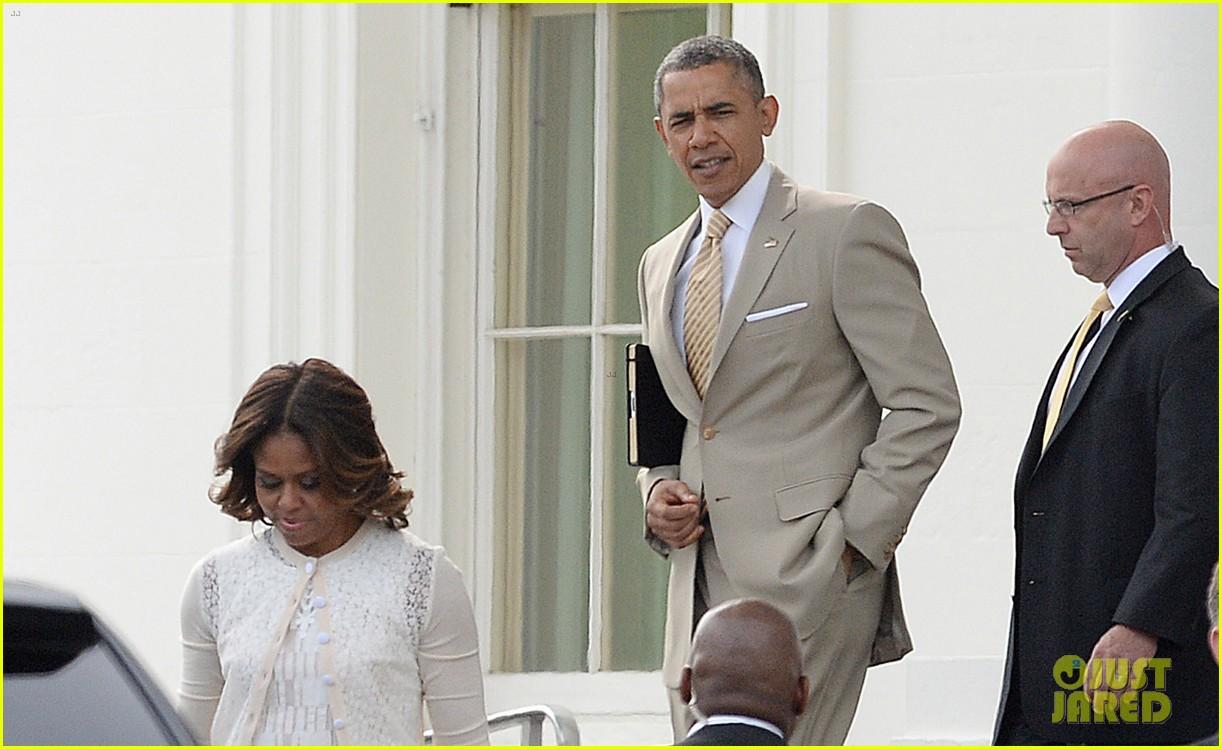 barack michelle obama easter sunday service 053096052