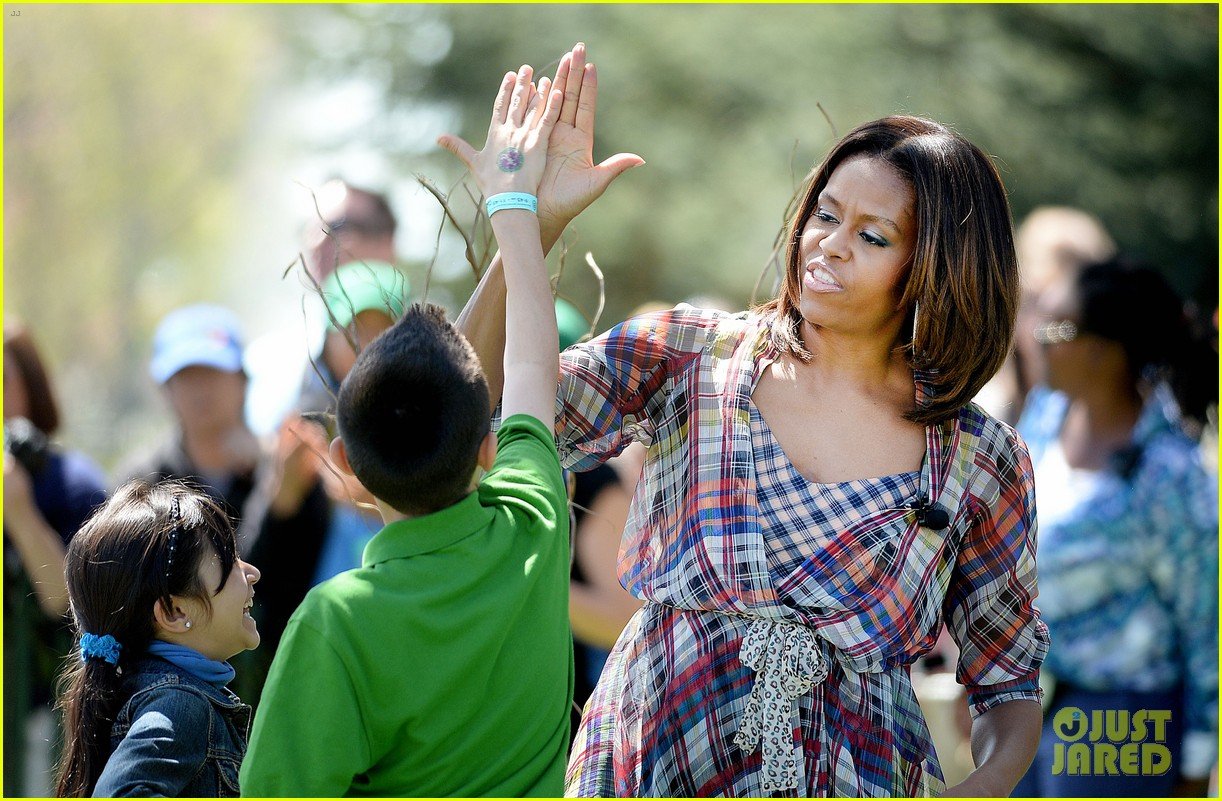 michelle obama white house easter egg roll 183096246