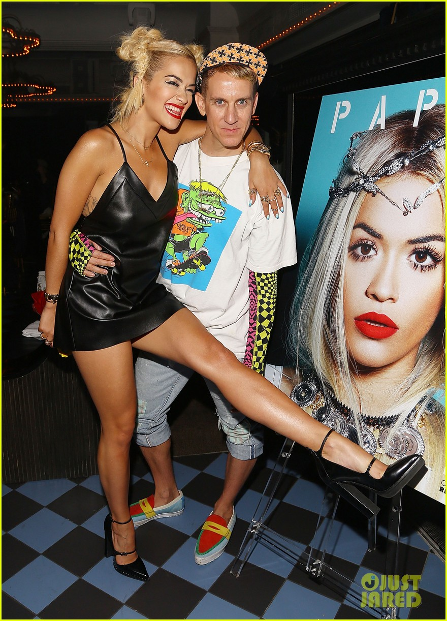 rita ora wears basketball print jacket 063100102