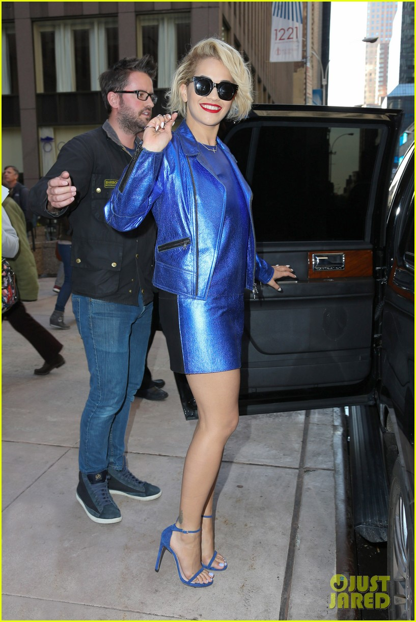rita ora rocks three outfits to promote i will never let you down in nyc 143096678