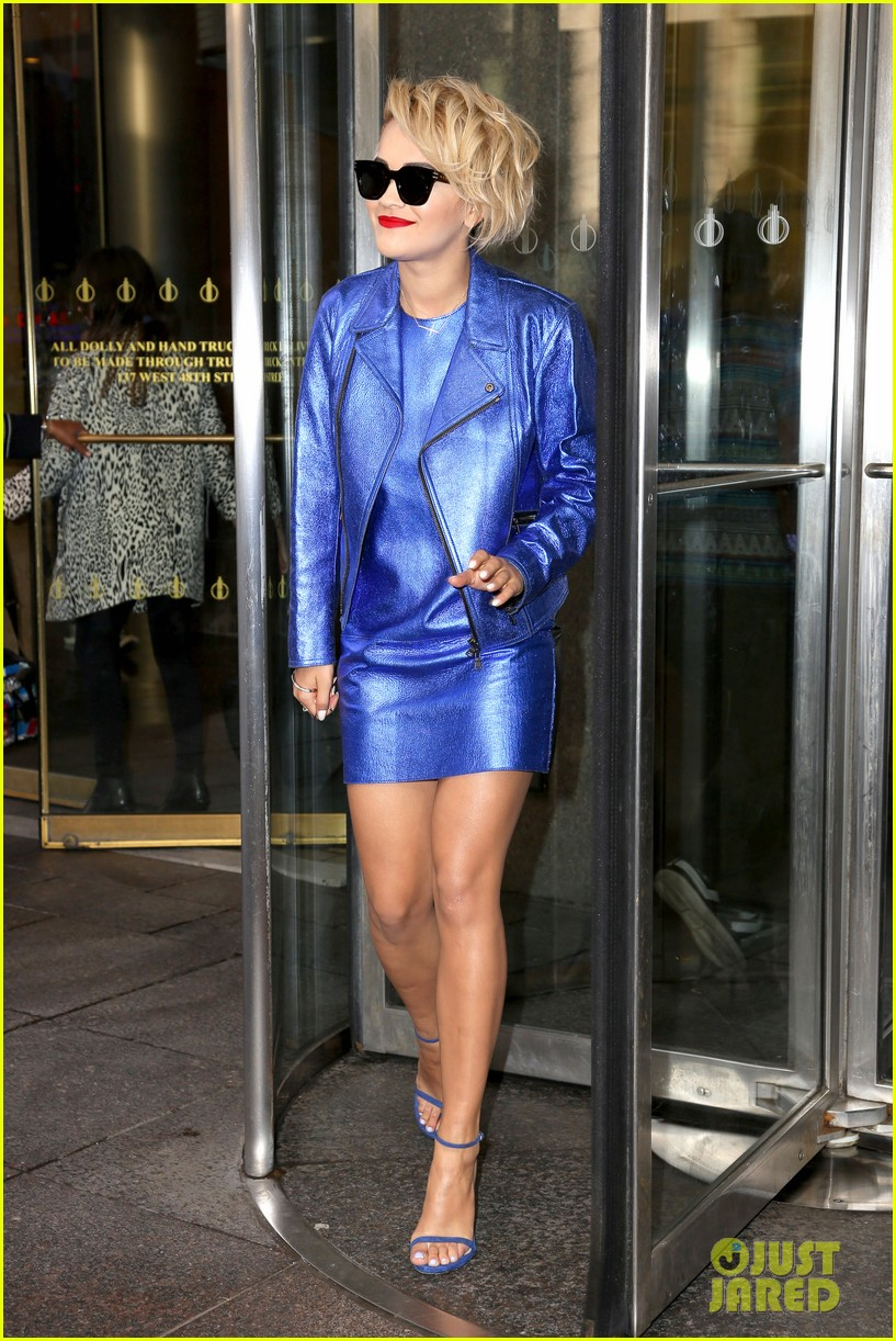rita ora rocks three outfits to promote i will never let you down in nyc 153096679