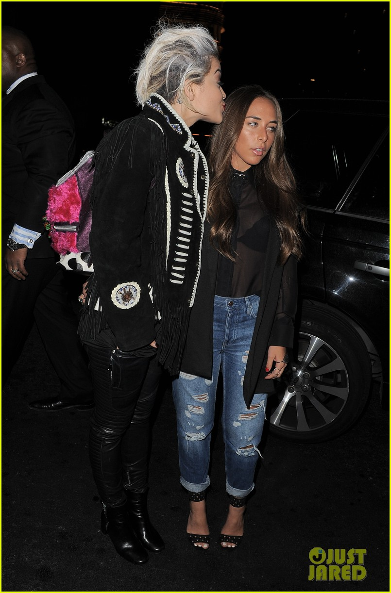 rita ora dines with chloe green at novikov in london 013083831