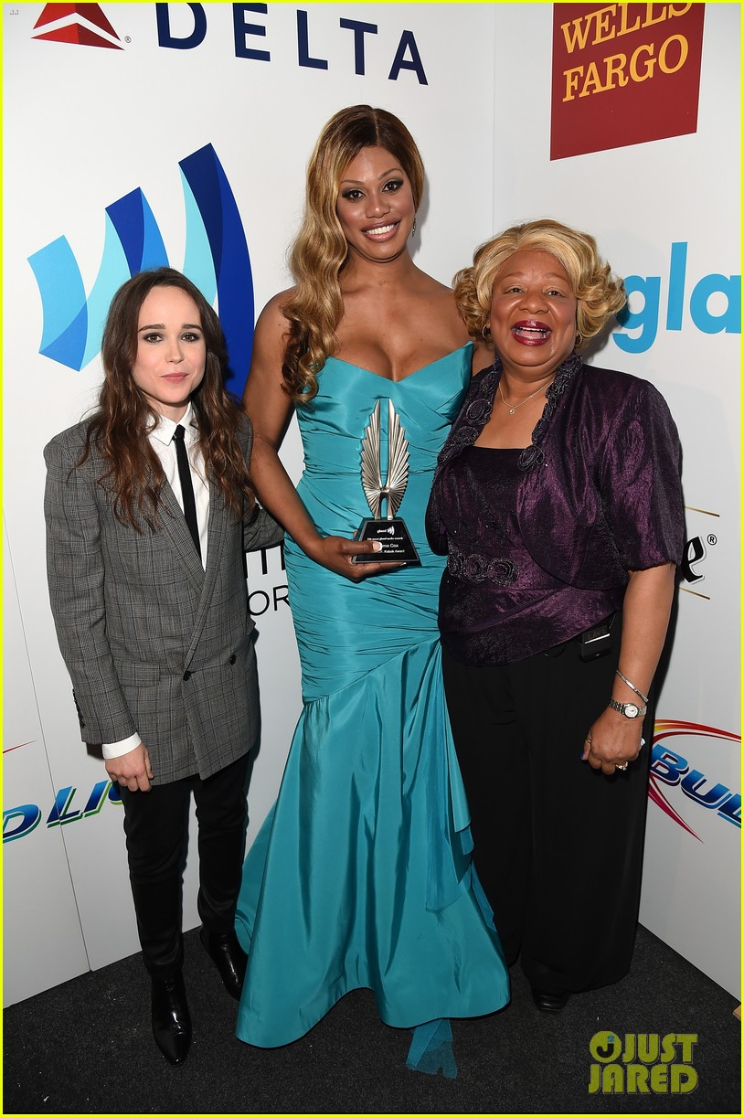ellen page laverne cox glaad media awards 2014 033090243