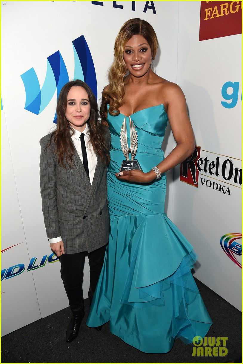 ellen page laverne cox glaad media awards 2014 05