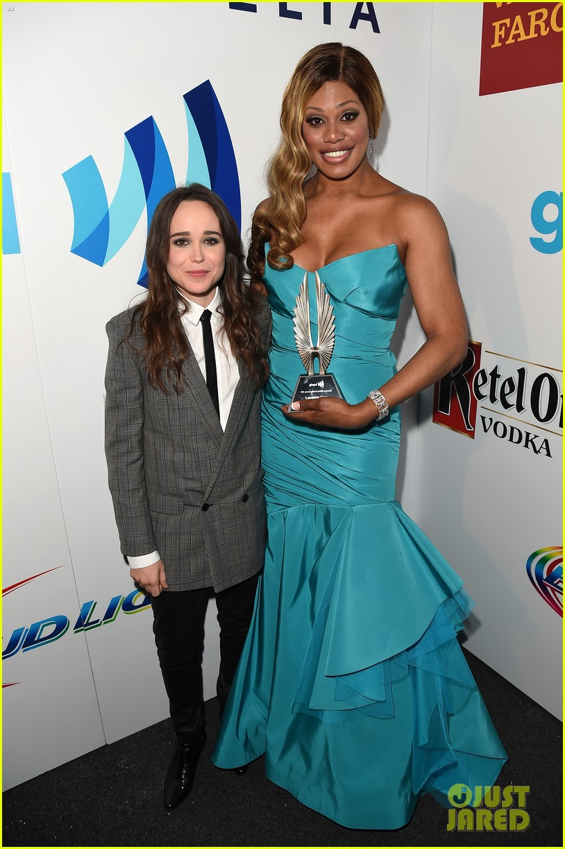 ellen page laverne cox glaad media awards 2014 123090252