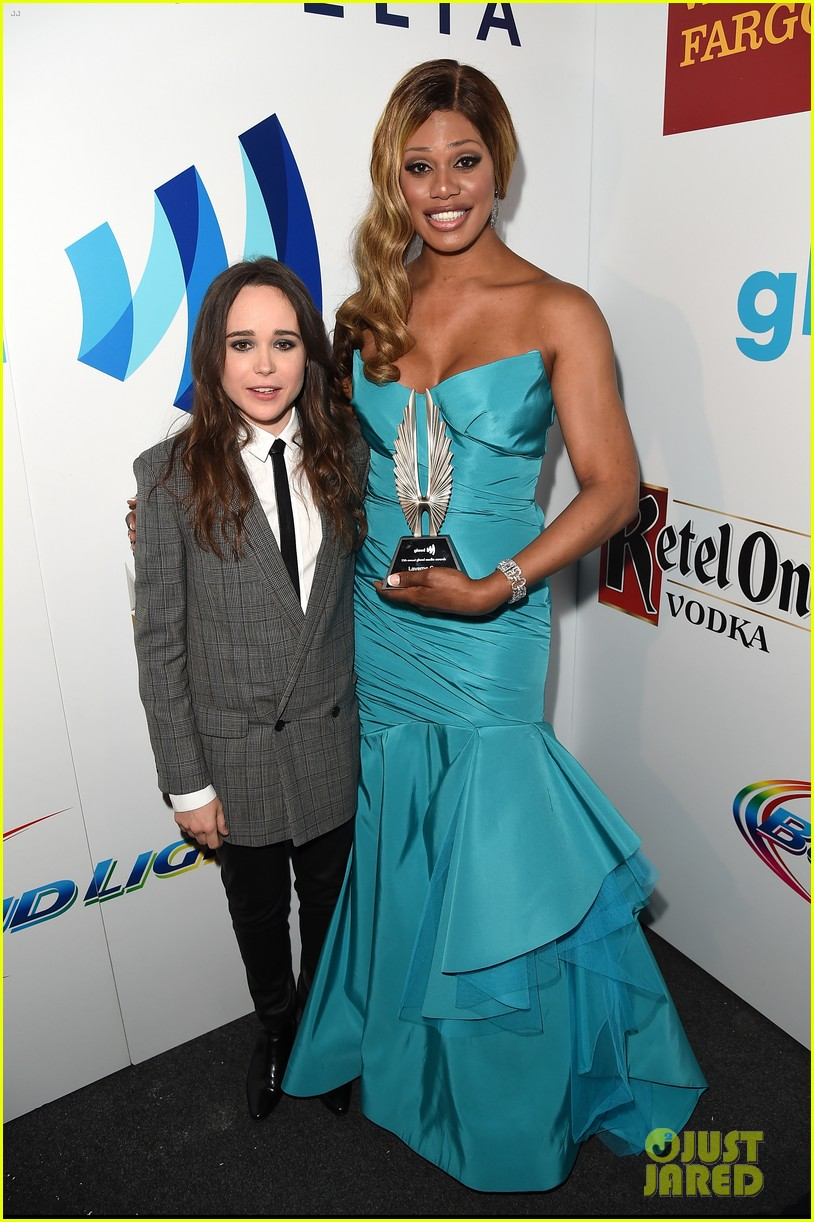 ellen page laverne cox glaad media awards 2014 183090258