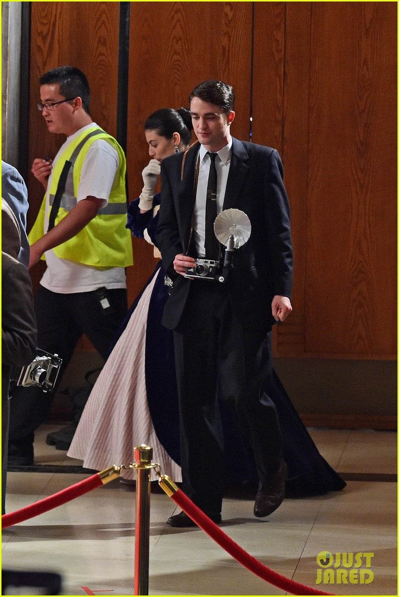 robert pattinson is camera ready on the set of life 01