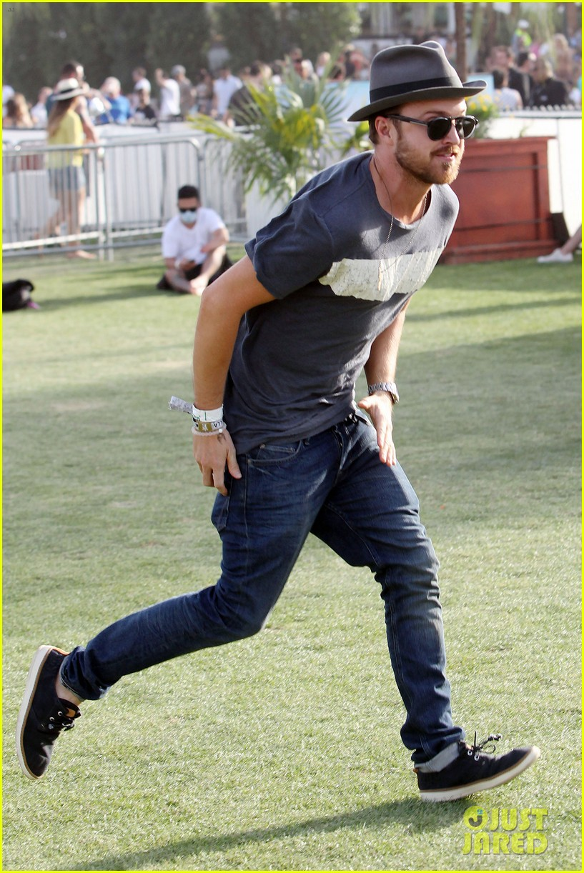 aaron paul wife wears retro bikini at coachella 033090204