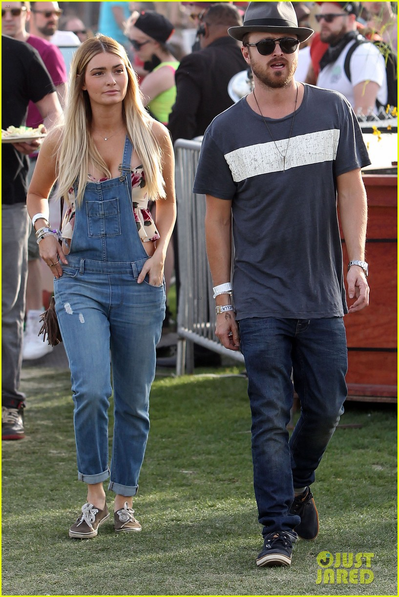 aaron paul wife wears retro bikini at coachella 05