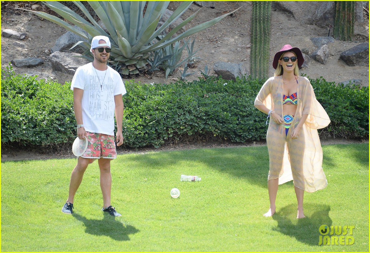 aaron paul wife wears retro bikini at coachella 063090207