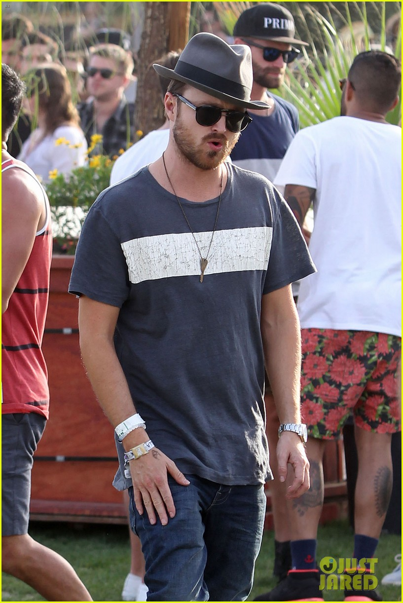 aaron paul wife wears retro bikini at coachella 103090211