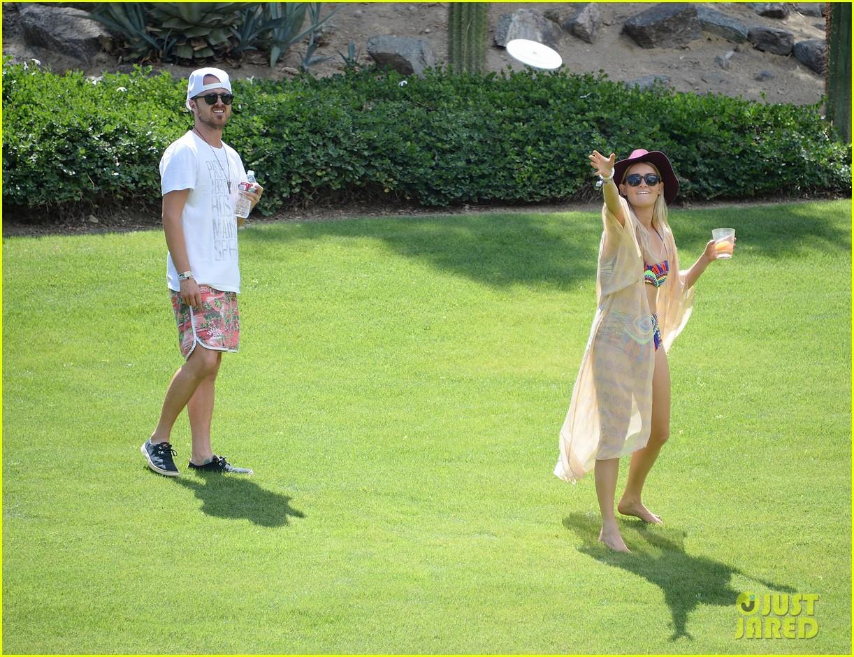 aaron paul wife wears retro bikini at coachella 193090220