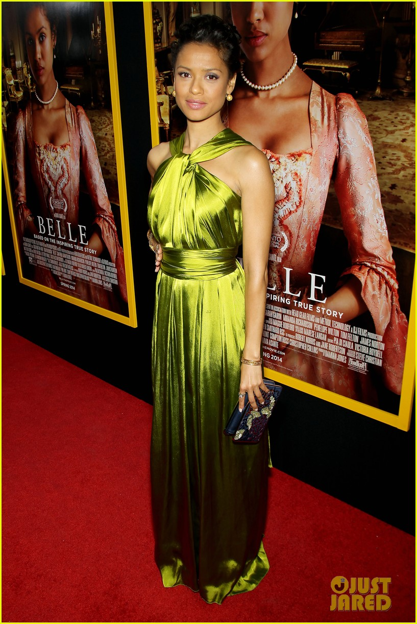 gugu mbatha raw is a green goddess at belle premiere 013101055