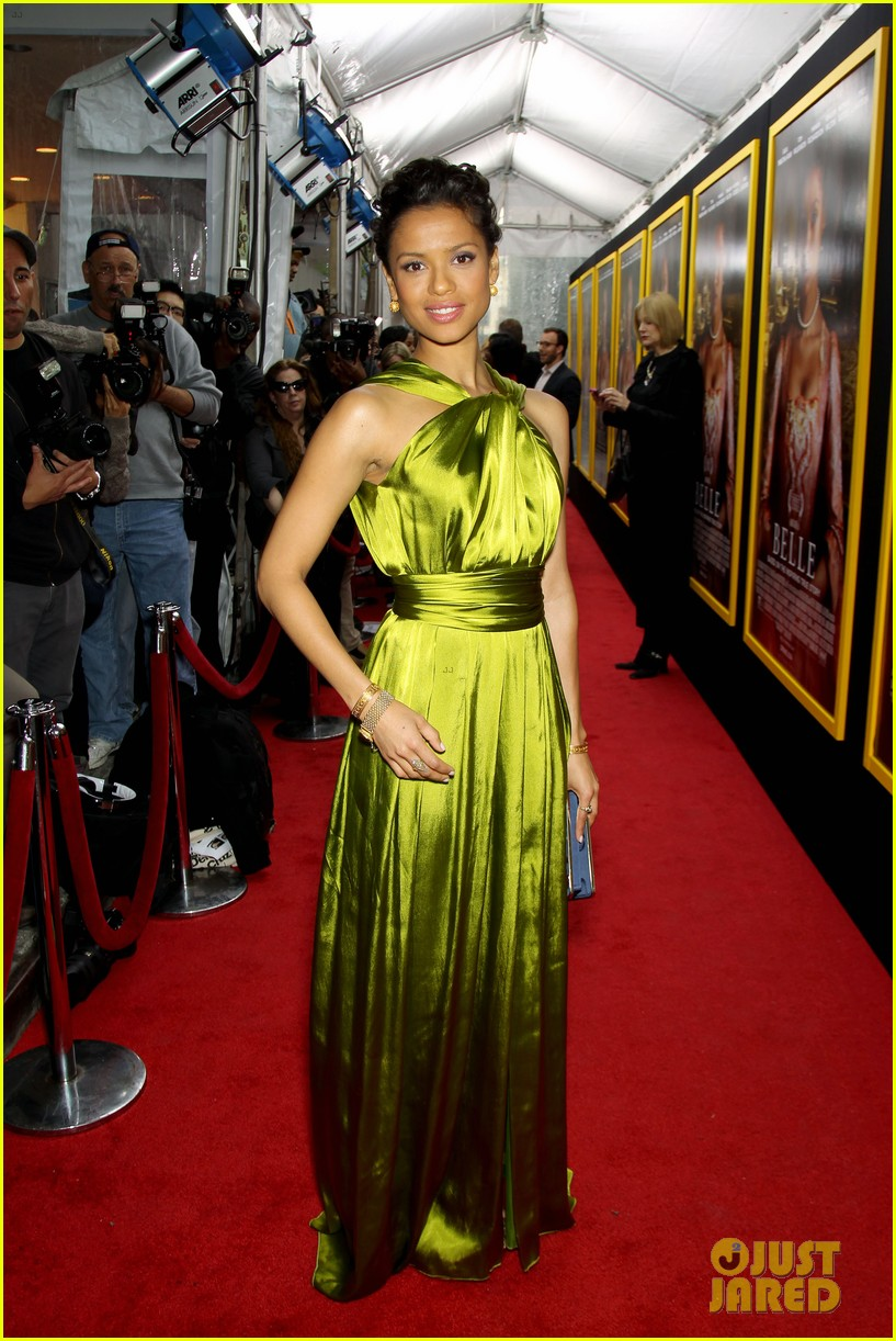 gugu mbatha raw is a green goddess at belle premiere 083101062