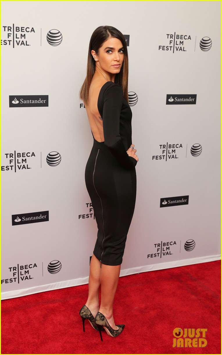 nikki reed wears a tight black dress looks amazing at tribeca premiere 01