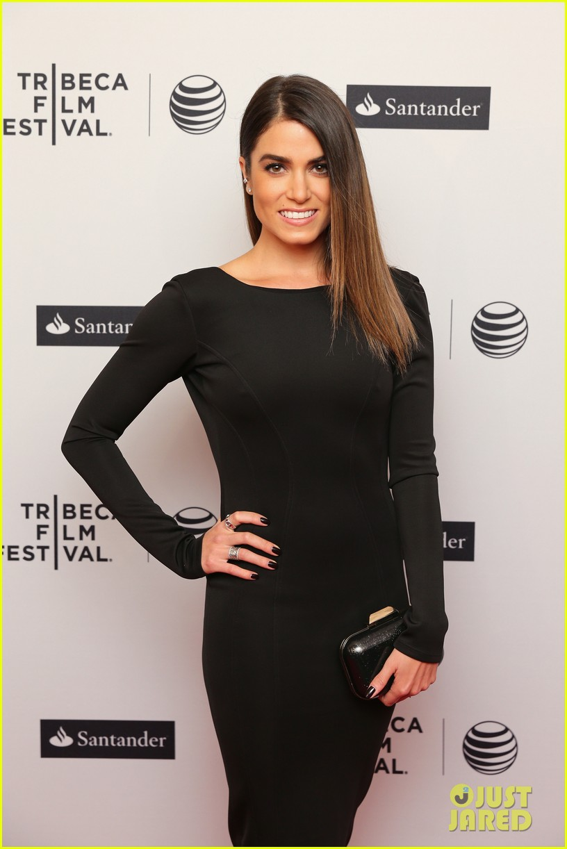 nikki reed wears a tight black dress looks amazing at tribeca premiere 113095916