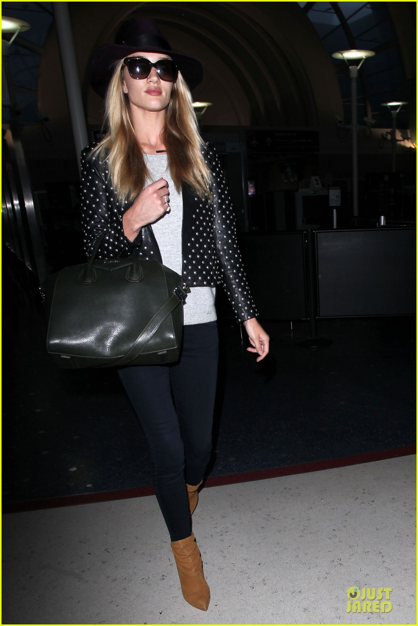 rosie huntington whiteley celebrate 27th birthday at lax 173094887