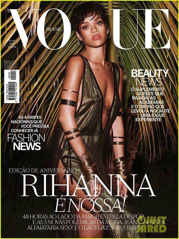 rihanna wears low cut high slit dress for vogue brasil 013099182