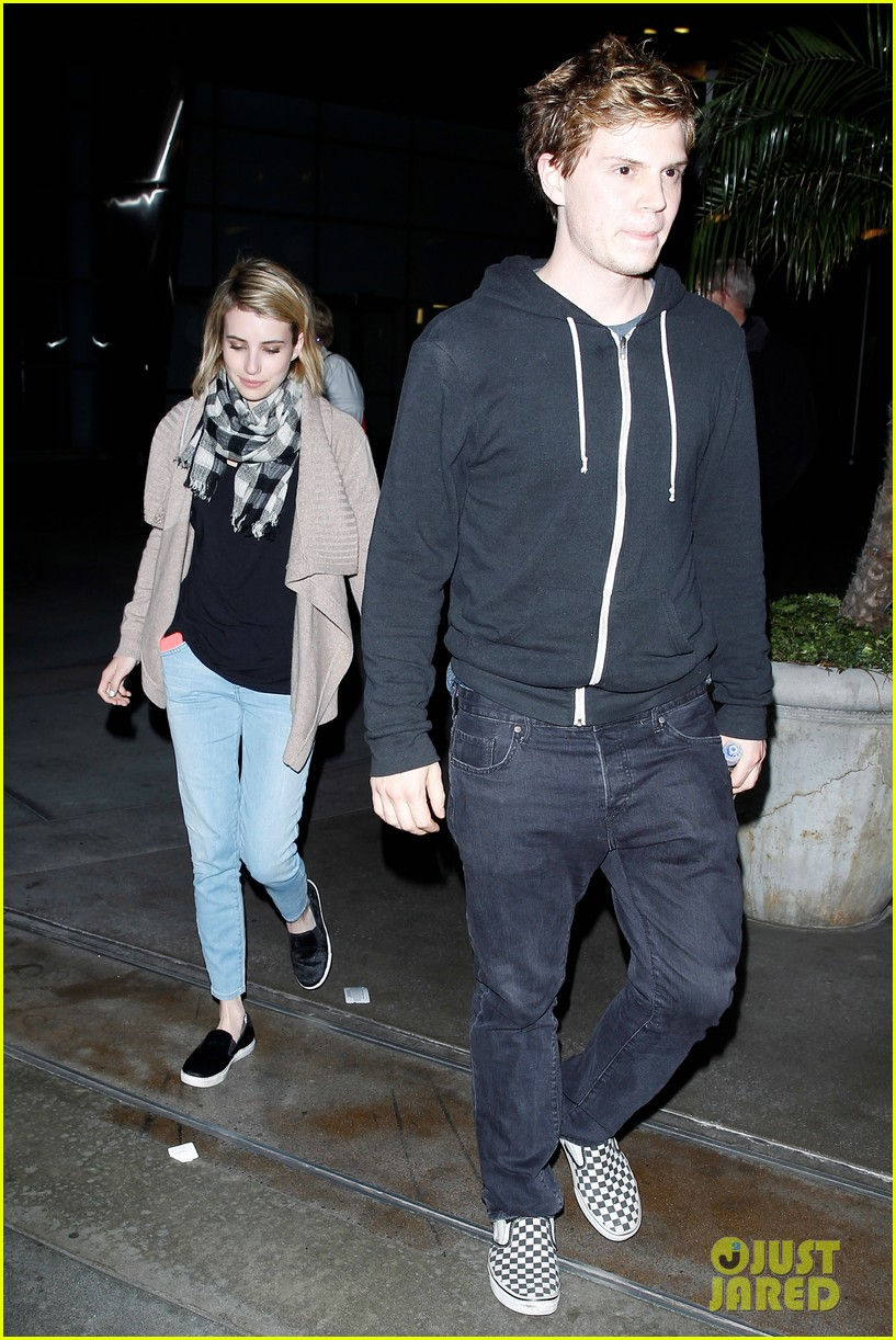 emma roberts evan peters havent started wedding planning just yet 103082917
