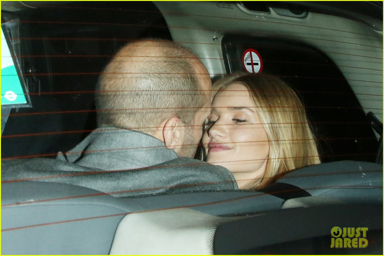 rosie huntington whiteley jason statham london backseat smooches 223100330