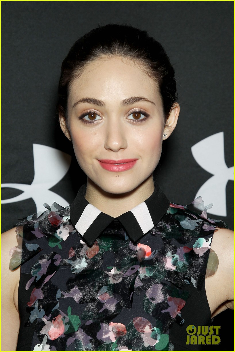emmy rossum plays with shoes at under armour store launch 043102029