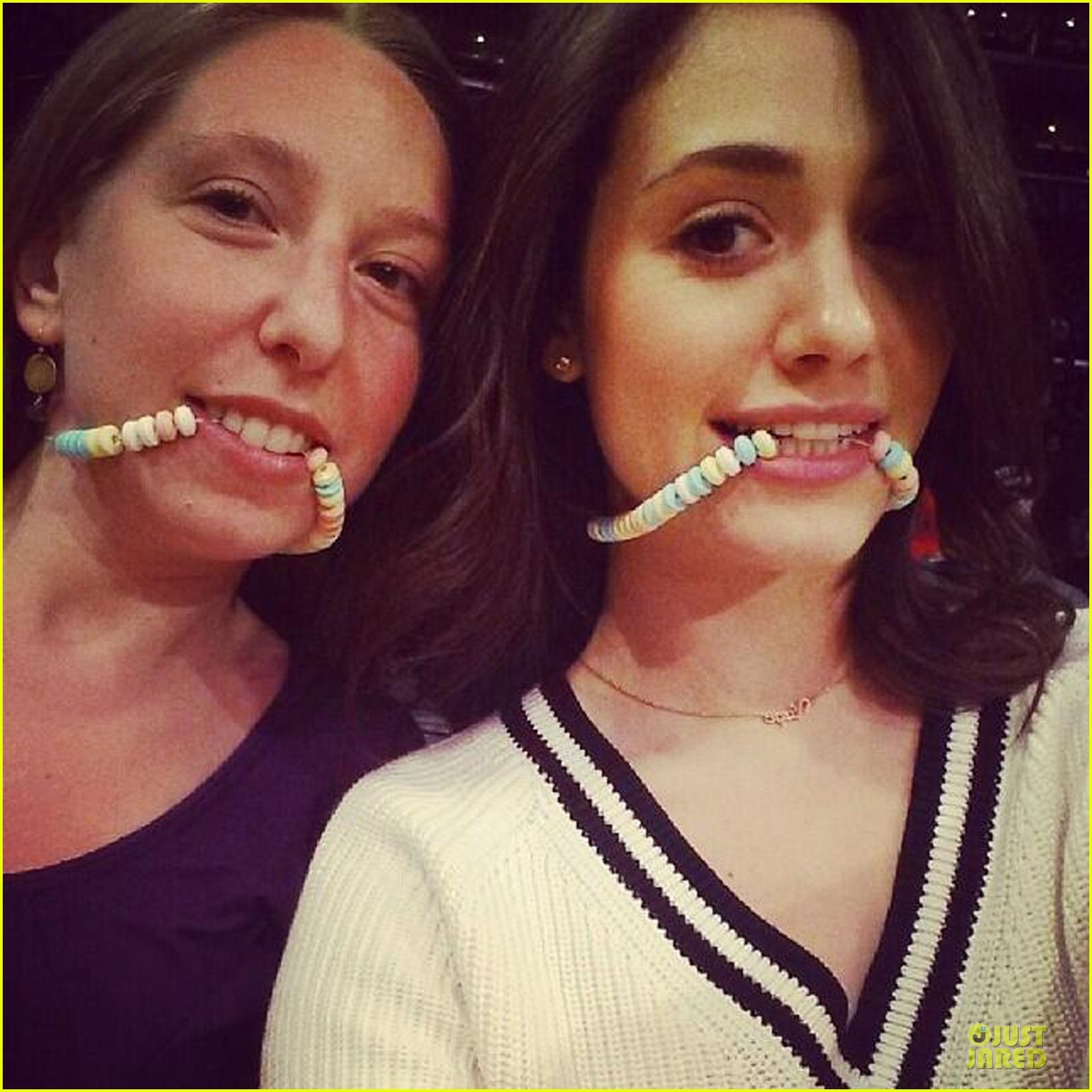 emmy rossum brings sexy back to candy necklaces 043083581