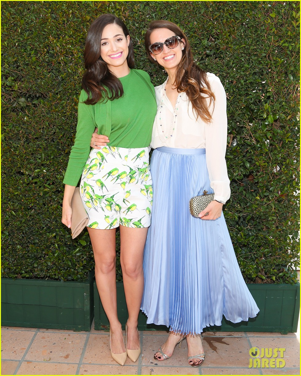 emmy rossum naya rivera carolina herrera luncheon 14