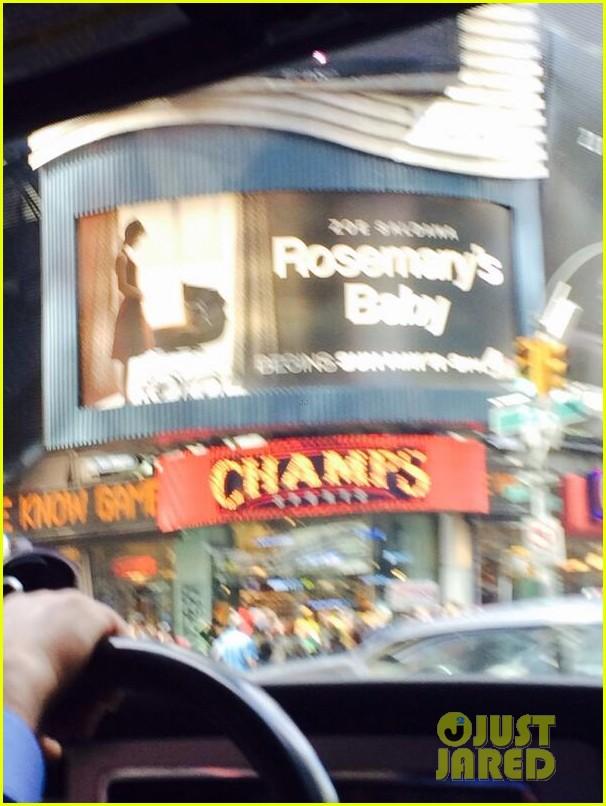 zoe saldana has been posting selfies in front of rosemarys baby billboards 073101613