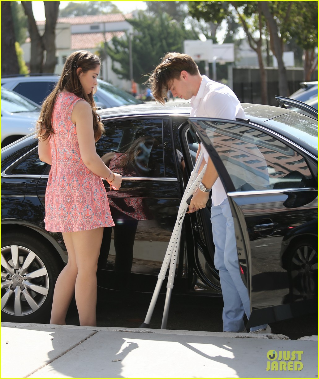patrick schwarzenegger crutches easter sunday 06
