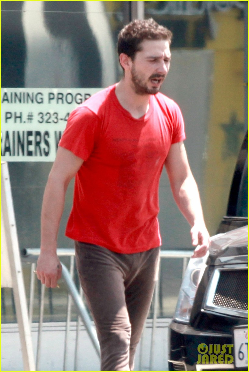 shia labeouf wears one of his favorite outfits for gym workout 023097430