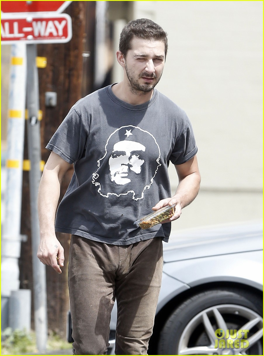 shia labeouf reportedly bought lunch for a homeless man 023094448