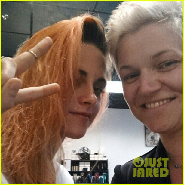 kristen stewart dyes hair orange red color3084779