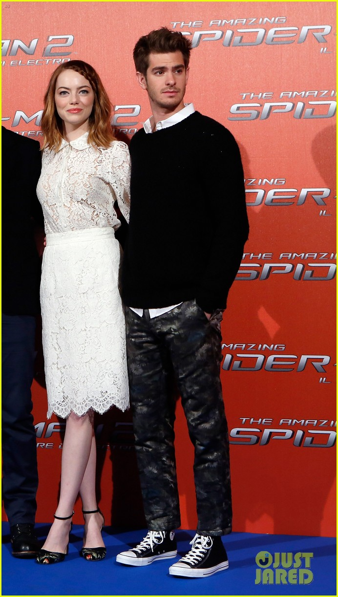 emma stone braids her hair spider man 2 rome photo call 173091760
