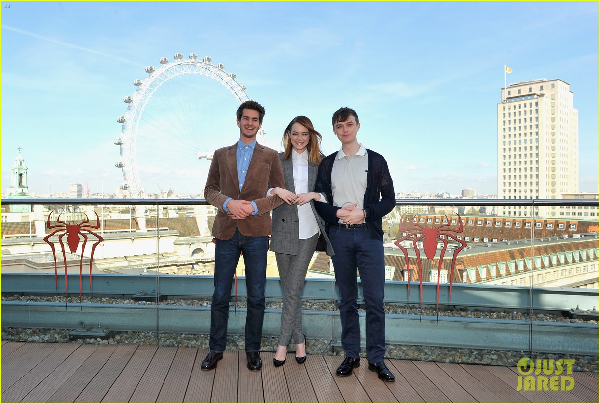andrew garfield jamie foxx sandwhich emma stone at amazing spider man 2 london photo call 133087371