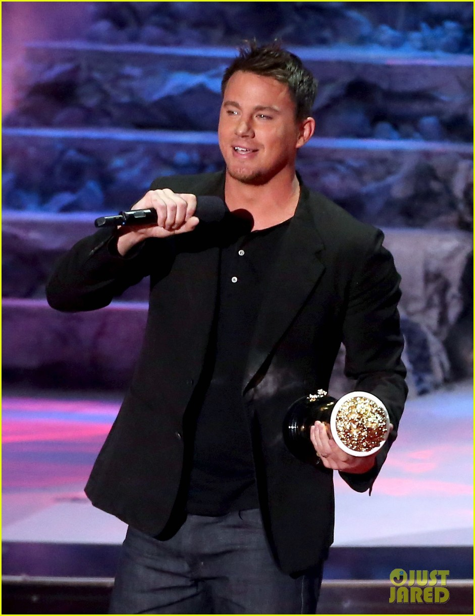 channing tatum wins trailblazer award at mtv movie awards 2014 073091354