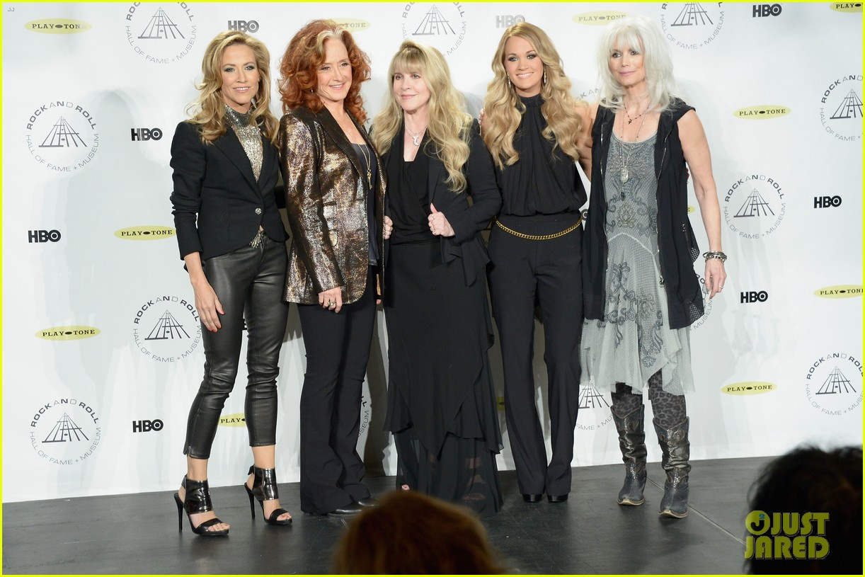 Carrie underwood joins epic group of ladies at rock roll hall of fame induction