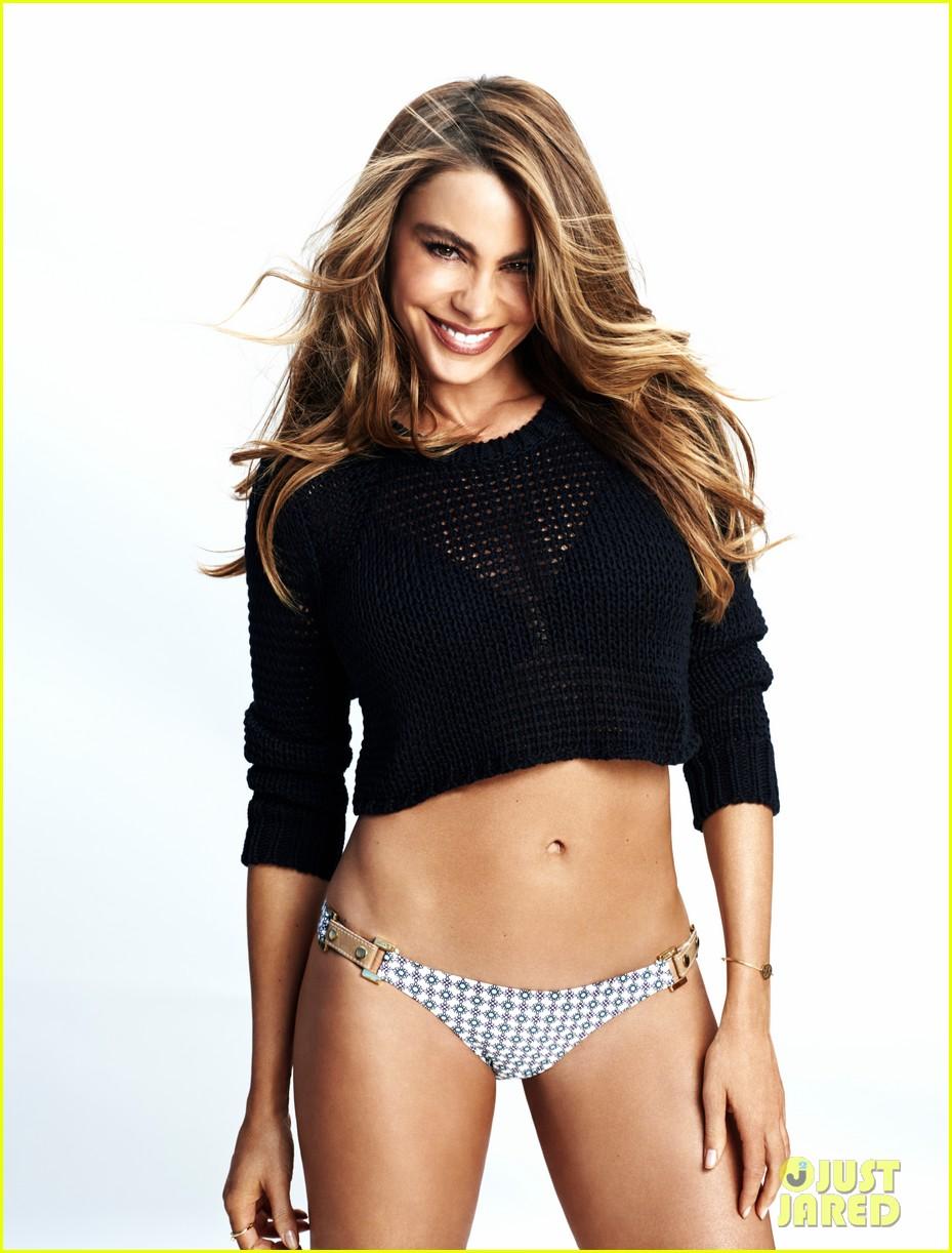 sofia vergara displays abs hot bikini body in womens health 013093326