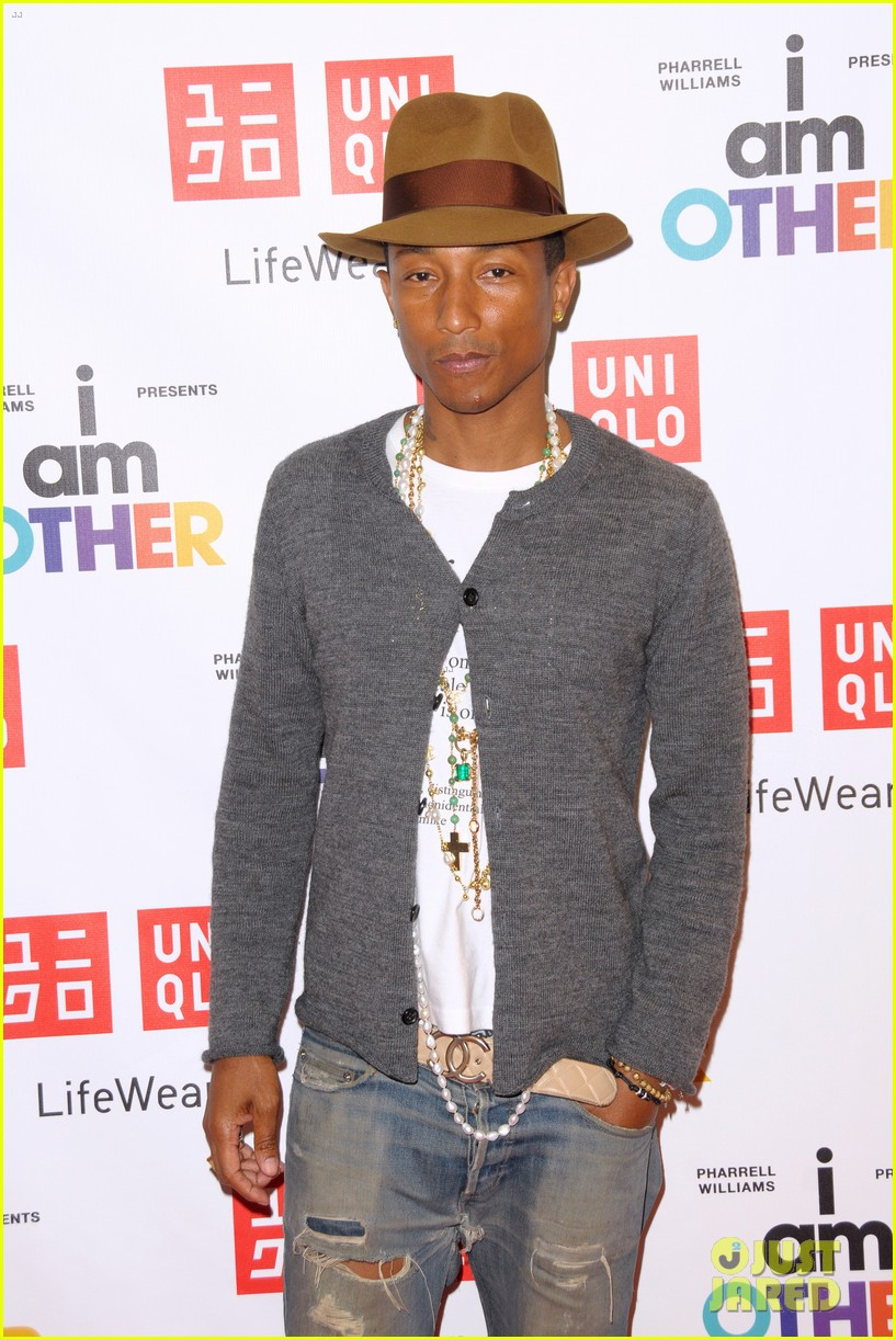 pharrell williams launches i am other collection at uniqlo 103101487