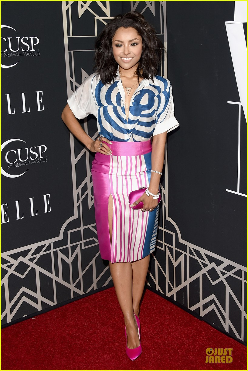 rumer willis cutout dress is sexy at elle music celebration 033097214