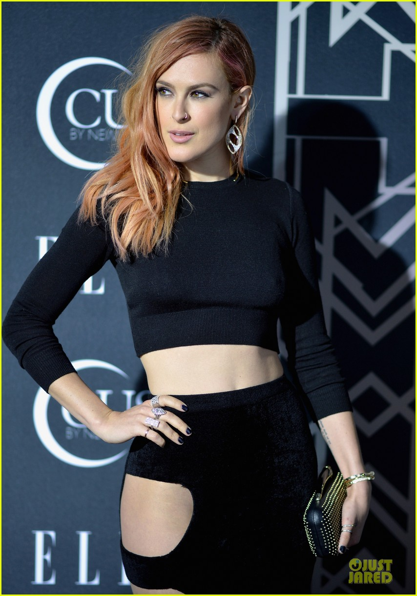rumer willis cutout dress is sexy at elle music celebration 08
