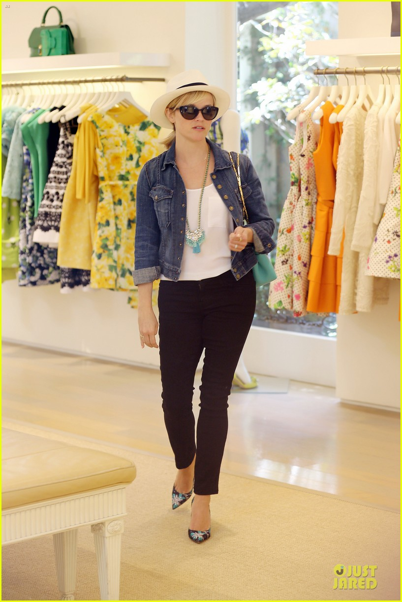 reese witherspoon denim delight at oscar de la renta 173093656