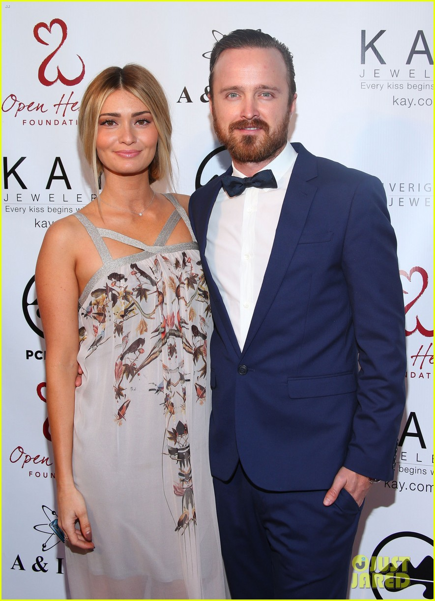 aaron paul wife lauren parksekian open your hearts gala 043110940