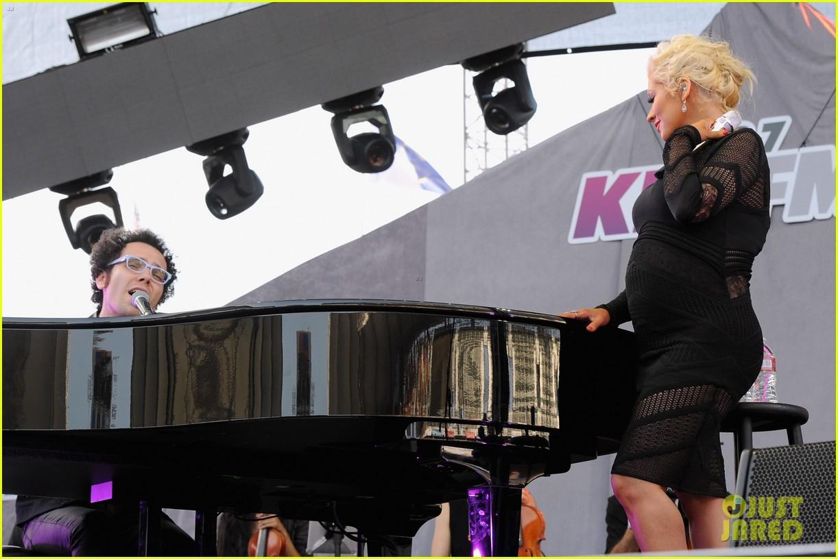 christina aguilera cradles large baby bump at wango tango 253110443