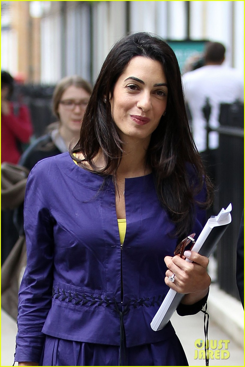 george clooneys fiancee amal alamuddin is back at work 153114484