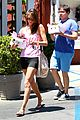 alessandra ambrosio shows off her super long legs in spandex shorts 13
