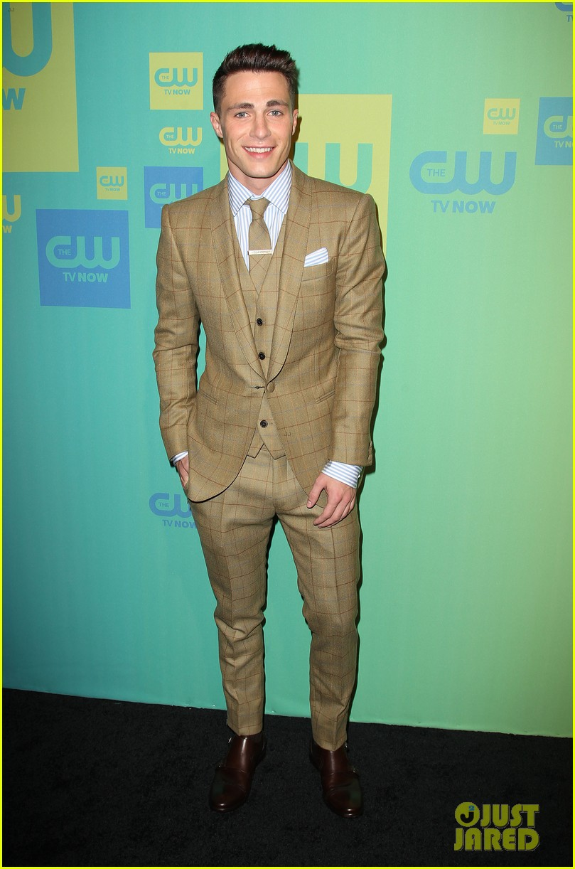 stephen amell katie cassidy arrow cw upfronts 2014 223114274