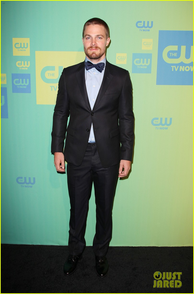 stephen amell katie cassidy arrow cw upfronts 2014 263114278