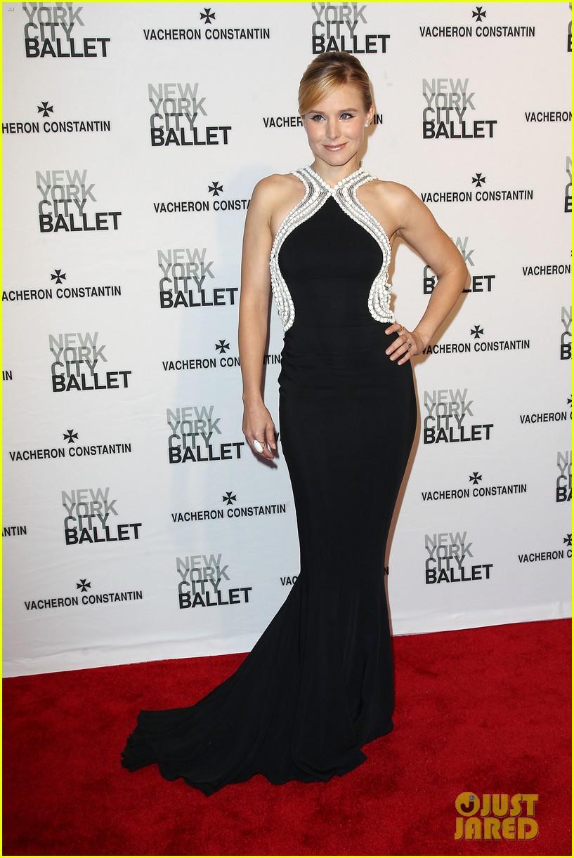 kristen bell is belle of the new york city ballet spring gala 2014 01
