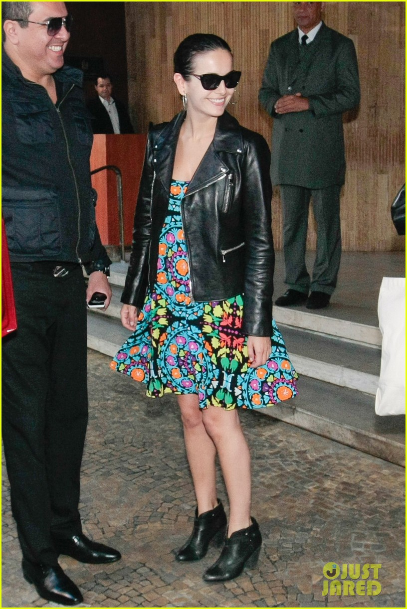 camilla belle heads to gucci photo shoot san paolo 033123493
